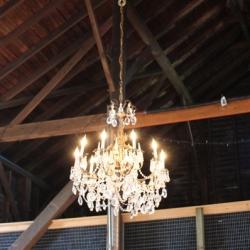 Farm barn gallery dwellinggawker barn chandelier mozeypictures Choice Image