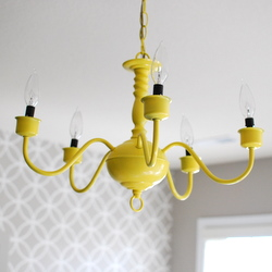 Yellow chandelier dwellinggawker yellow chandelier aloadofball Gallery