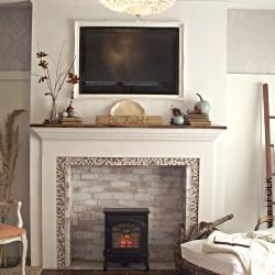 a thanksgiving fireplace mantel | dwellinggawker