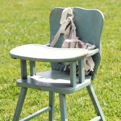 Vintage Wood High Chair Painted Dwellinggawker