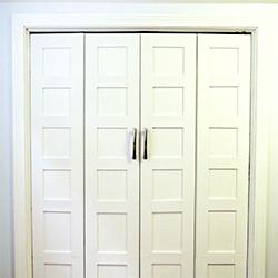 Delightful ... Bi Fold Closet Door Makeover