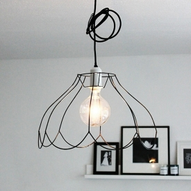 Wire frame lampshades dwellinggawker wire frame lampshades 13897 athomeinlove diy keyboard keysfo Images