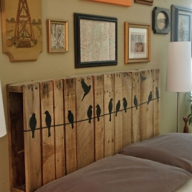 ... Make a Headboard From A Pallet