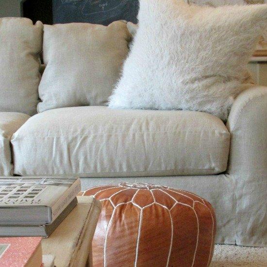 tutorial~linen slipcover for a sofa | dwellinggawker