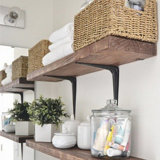 Best diy rustic bathroom shelves | dwellinggawker FA79