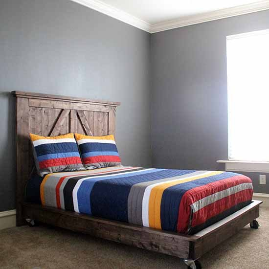 ... DIY Barn Door Headboard