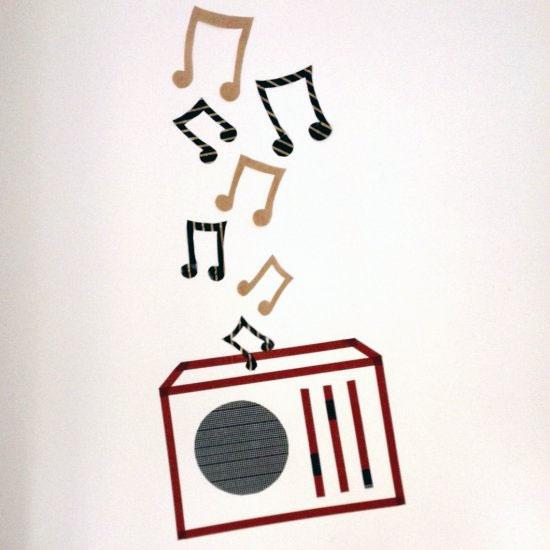 Washi Tape Wall Art washi tapes gallery | dwellinggawker