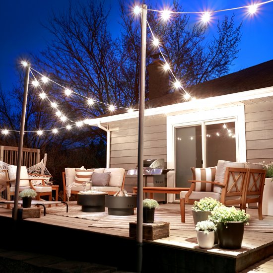 String lights gallery dwellinggawker erins guest ready deck mozeypictures Choice Image