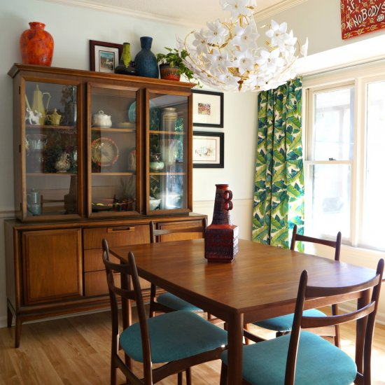 mid century dining room | dwellinggawker