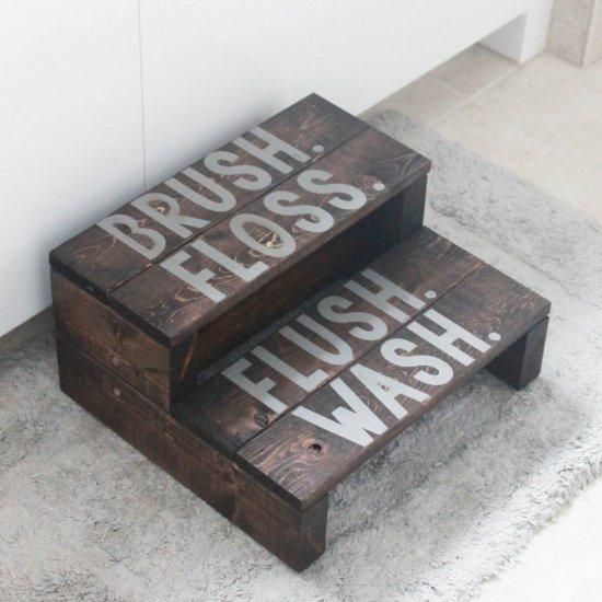 ... Wooden 2×4 Bathroom Step Stool