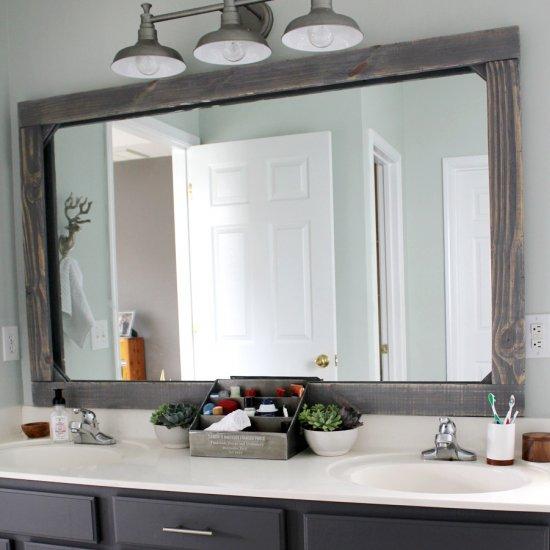 Diy Rustic Wood Mirror Frame Dwellinggawker