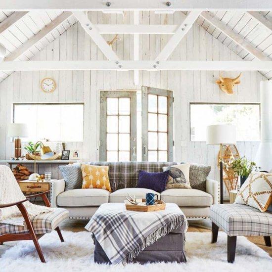 exposed ceiling trusses