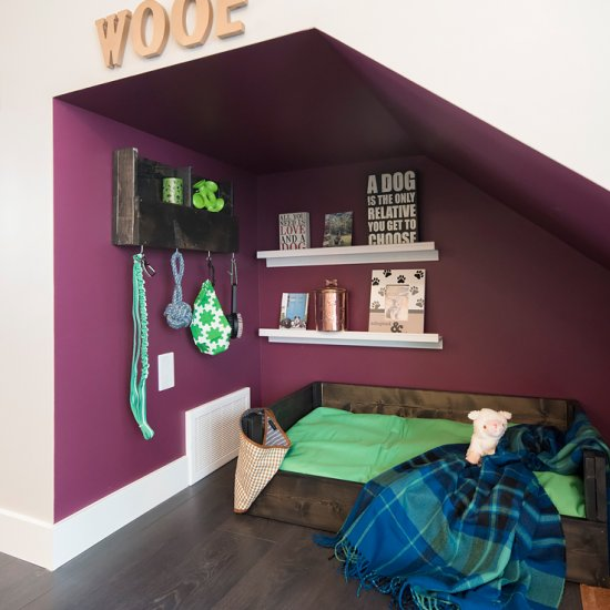 ... DIY Under Stairs Dog Nook