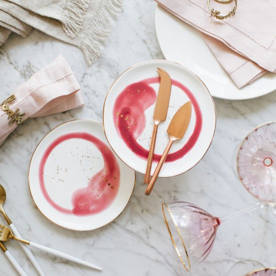 whimsical blush Thanksgiving table