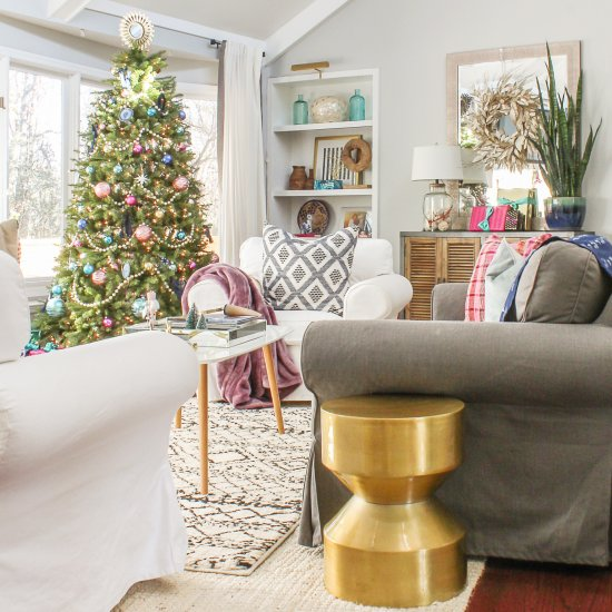 boho chic christmas home tour - Chic Christmas Decorations