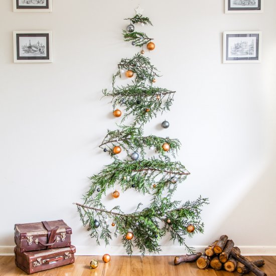 DIY Pine Branch Christmas Tree