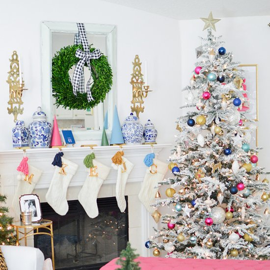 Pink & Blue Holiday Home Tour