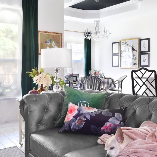 Velvet Green Living Room Curtains Dwellinggawker