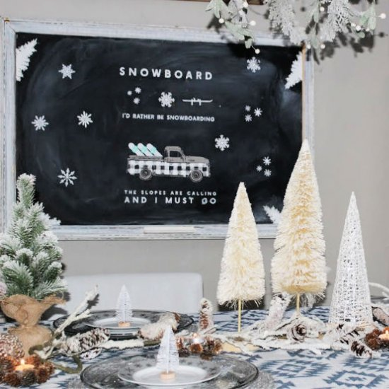 Winter Tablescape Decorating Ideas Dwellinggawker